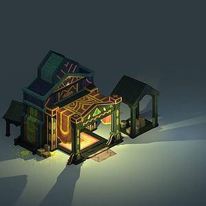 游戲房屋模型3d模型