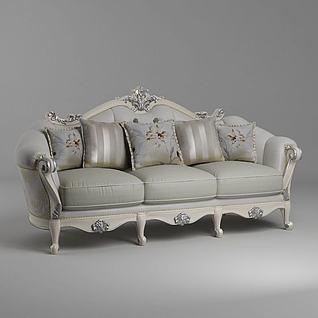 欧式多人沙发3d模型
