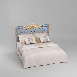欧式软包床3d模型3d模型