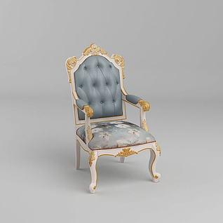 高档欧式餐椅3d模型