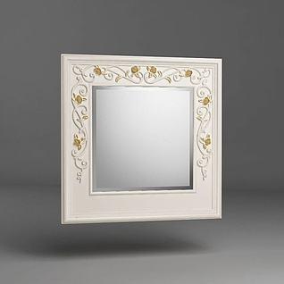 大气梳妆镜子3d模型