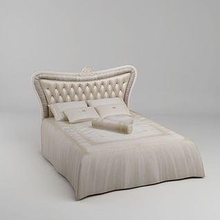 简欧舒适床3d模型