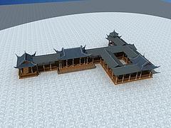 古建廊亭模型3d模型