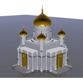 宁夏清真寺3d模型3d模型
