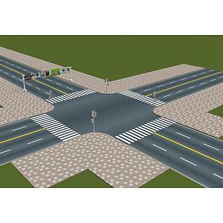 十字路口3d模型
