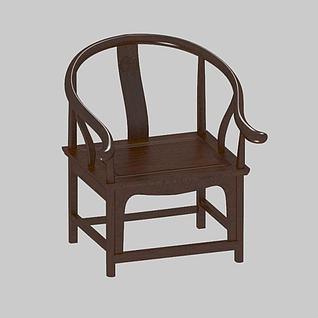 圈椅3d模型