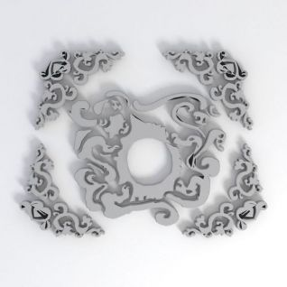 雕花花纹3d模型