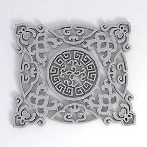 3d花紋模型