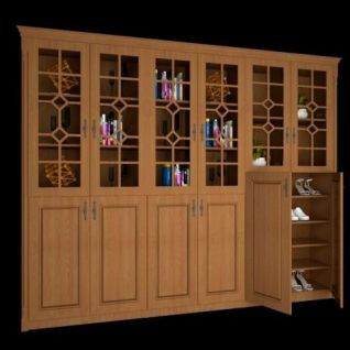 木质装饰柜3d模型
