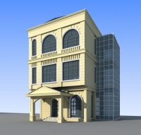 简欧办公楼3d模型