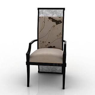 中式单人椅3d模型