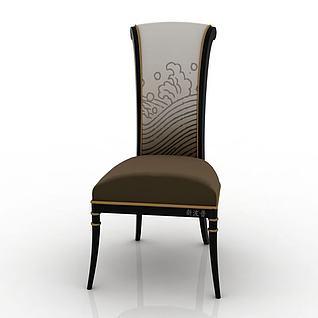 高背单人椅3d模型