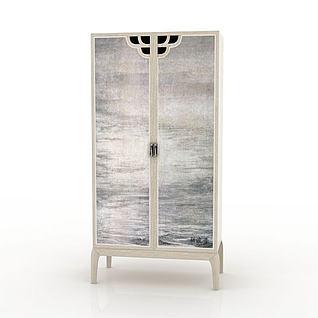 木质衣柜3d模型