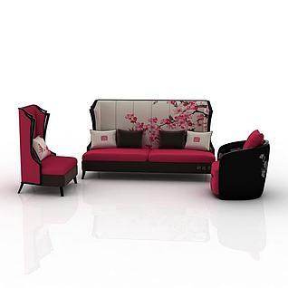 组合沙发3d模型