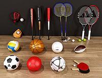 体育球类3d模型
