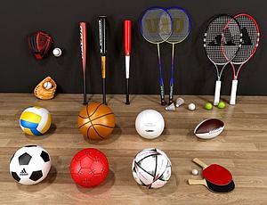 體育球類模型3d模型