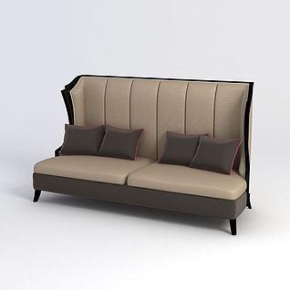 半弧形沙发模型