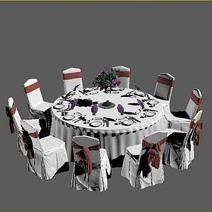 宴会桌椅模型