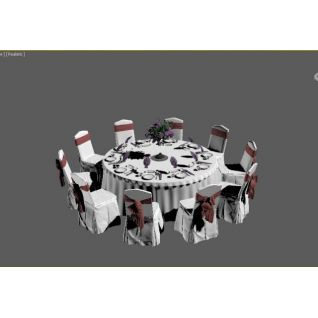 宴会桌椅3d模型3d模型