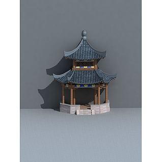 建筑亭子3d模型