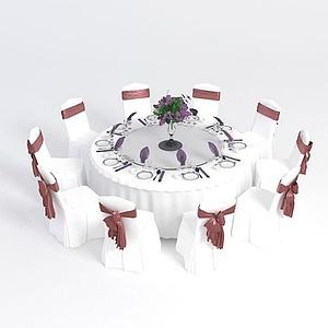 宴會桌椅模型