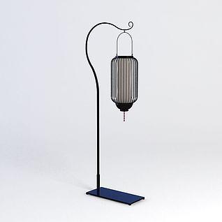 中式古典落地灯3d模型