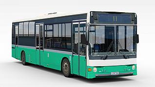 3d公交车模型