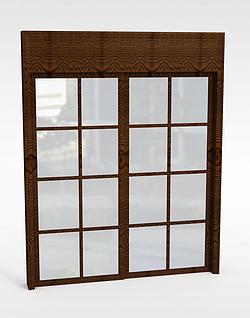 木窗模型3d模型