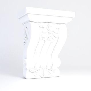 雕花角3d模型