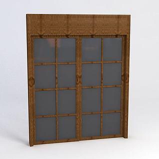 木窗3d模型3d模型