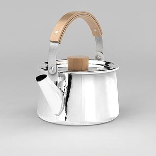 不锈钢烧水壶3d模型