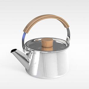 不锈钢烧水壶模型
