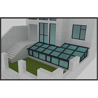 阳光房窗户3d模型3d模型