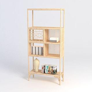 竹木置物架3d模型