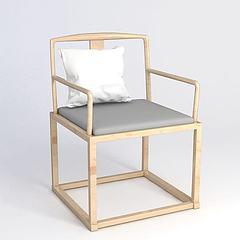 中式椅子3D模型3d模型