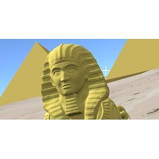 狮身人面像3d模型
