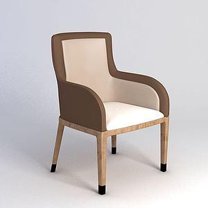 書房辦公椅模型