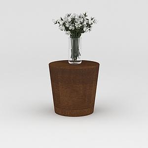 花瓶花幾組合模型3d模型