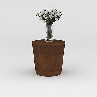 花瓶花几组合3d模型3d模型
