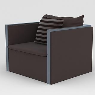 简约单人沙发3d模型3d模型