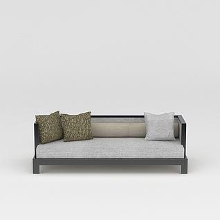 简约中式沙发3d模型3d模型