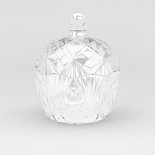 高档玻璃香水瓶3d模型