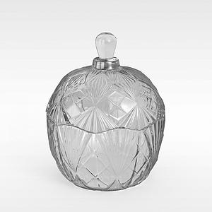 高档玻璃香水瓶模型