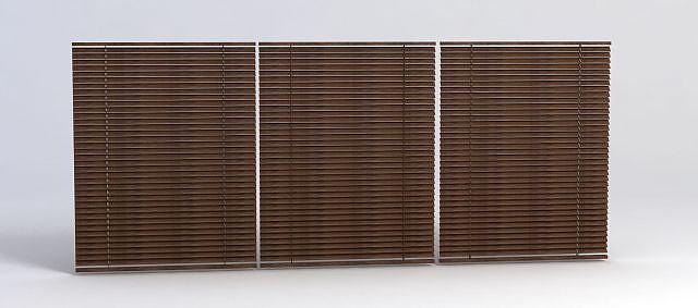 木窗帘模型