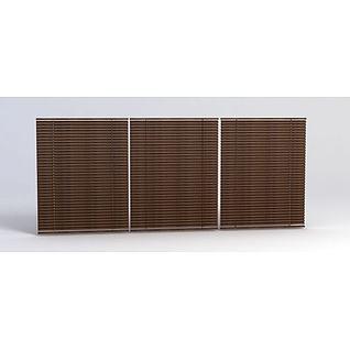木窗帘3d模型