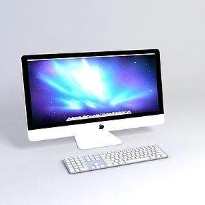 3d苹果<font class='myIsRed'>电脑</font>模型