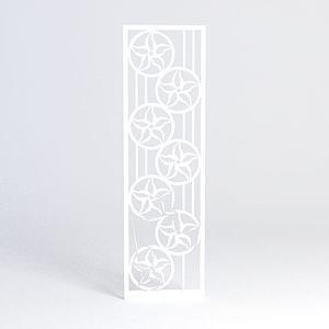 雕花隔断模型