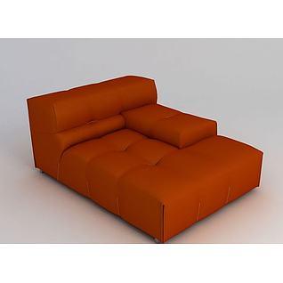橘色沙发3d模型3d模型