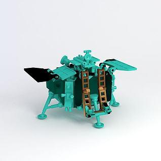 玉兔探月车3d模型