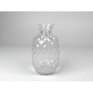 菠萝水晶瓶子3d模型